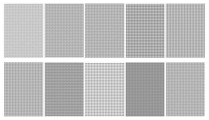 patterns 5x5 pixels