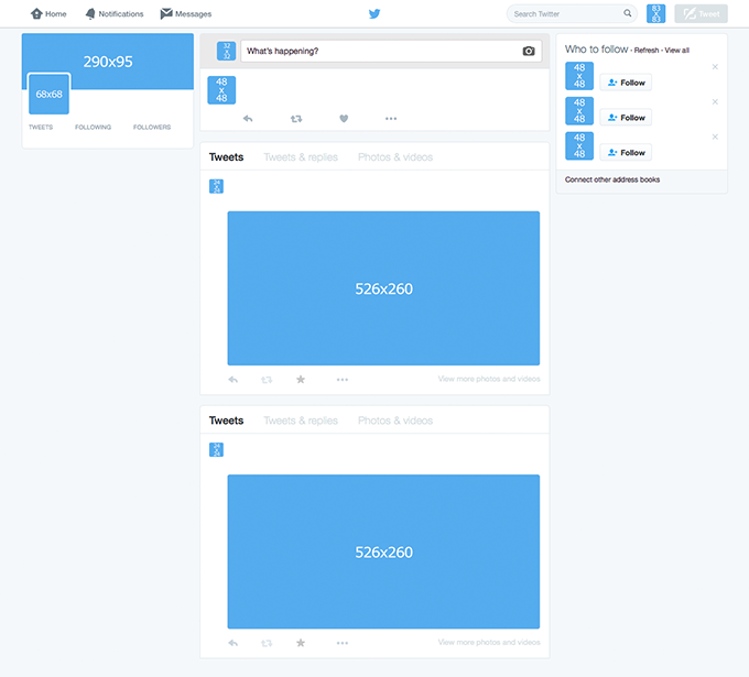 twitter template home page