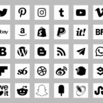 basic social icons white color