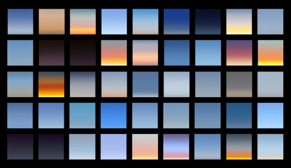 preview sky gradients