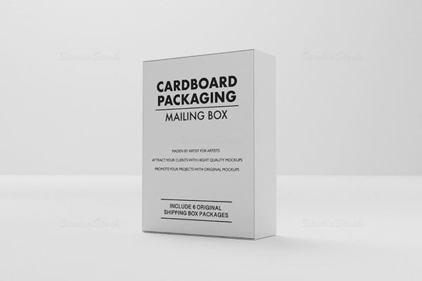 Cardboard Packaging Mailing Box MockUps set 05 cover preview